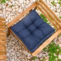 Futon Suede Azul Marinho 45x45cm - Shelter -