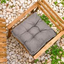 Futon Suede Cinza 45x45cm - Shelter -