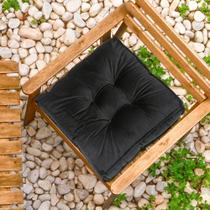 Futon Suede Preto 45x45cm - Shelter -