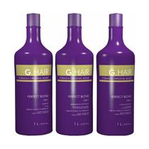 G.hair escova progressiva perfect blond 3 passos 1l - Inoar