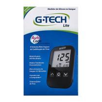 G-Tech Free Lite Kit Monitor de Glicemia com 1 Aparelho + 1 Lancetador + 10 Lancetas + 10 Tiras -