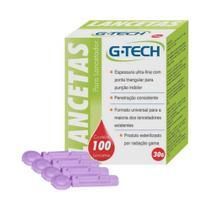 G Tech Lancetas P/ Aparelho Medidor de Glicose C/100 - G life