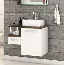 Gabinete Armário p/Banheiro (Balcão C/cuba Q32) Legno 630 - Compace