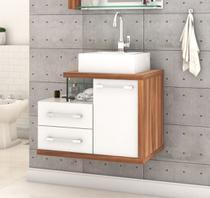 Gabinete Armário p/Banheiro (Balcão C/cuba Q355) Legno 650 - Compace