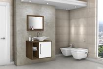 Gabinete Armário para Banheiro com Pia Baden Avelã Branco - ALADDIN