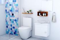 Gabinete Banheiro Armário Cuba Vidro, Espelho 44cm VDRD London Barbaresco e Prado - Barbaresco & Prado