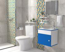 Gabinete Banheiro Armário Cuba Vidro, Espelho 44cm VDRD London Barbaresco e Prado - Barbaresco&Prado