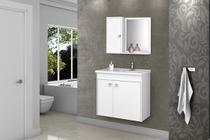Gabinete Banheiro com Pia Munique Branco_Branco - ALADDIN