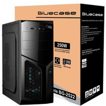 Gabinete Bluecase BG-2522 com Fonte 250W, Preto - BG2522GCASE -