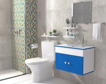 Gabinete de Banheiro Cuba de Vidro + Espelho London VDRD 60cm - Barbaresco&Prado