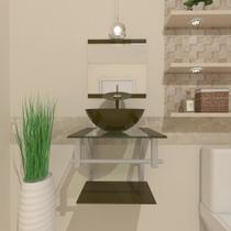 Gabinete de Vidro 40cm para banheiro Croácia - Ekasa