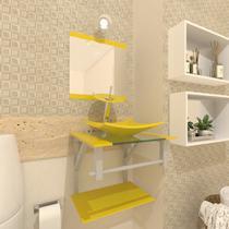 Gabinete de Vidro 40cm para banheiro Quadrado - Armênia - Ekasa