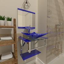 Gabinete de Vidro 45cm para banheiro Escócia - Ekasa