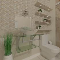 Gabinete de Vidro 60cm para Banheiro Cuba Oval - Sérvia - Ekasa
