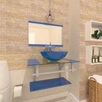 Gabinete de Vidro 60cm para Banheiro Cuba Redonda - Estônia - Ekasa