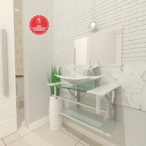 Gabinete de Vidro 60cm para banheiro San Marino - Ekasa