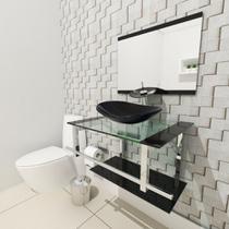 Gabinete de Vidro 60cm para Banheiro Sérvia - Ekasa
