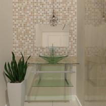 Gabinete de Vidro 60cm para banheiro Ucrânia - Ekasa