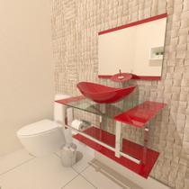 Gabinete de Vidro 70cm para Banheiro Irlanda - Ekasa