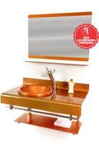 Gabinete de Vidro 90cm para banheiro Alemanha - EKASA