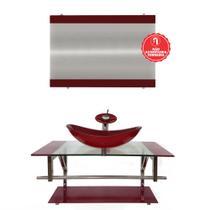 Gabinete de Vidro 90cm para Banheiro Romênia - Ekasa