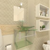 Gabinete de vidro armênia 40cm ac incolor ek - Ekasa