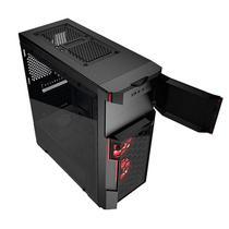Gabinete Gamer 3 Baias Crimson 211G Vidro Temperado Azza CRIMSON-211G -