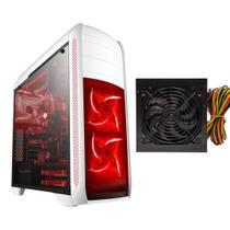 Gabinete Gamer ATX BG024 BRANCO + fonte ATX 500W - Bluecase