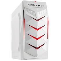 Gabinete Gamer ATX Sem Fonte 1B  MT-G70WH  Branco com Lista Vermelha - G70WH - C3 TECH
