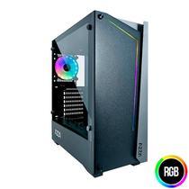 Gabinete Gamer AZZA Apollo 430DF Lateral de Vidro LED RGB Preto, CSAZ-430B-DF2 -