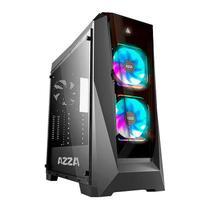 Gabinete Gamer AZZA Chroma 410B Lateral de Vidro LED RGB Preto, CSAZ-410B -