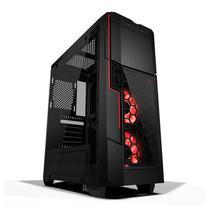 Gabinete gamer azza crimson 221 s/fonte c/2x fan led frontal -