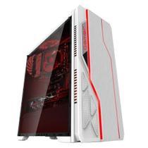 Gabinete Gamer  Bg-009 Branco Frontal Rgb Sem Fans Sem Fonte Bluecase - Kmex -
