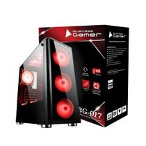 Gabinete gamer bg-017 bluecase - usb 3.0
