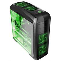 GABINETE GAMER BG-024 BLUECASE - 02 BAIAS S/ FONTE / USB 3.0 FRONTAL + 4 Cooler Led Verde -