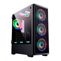 Gabinete gamer bg-025 preto bluecase - s/ fonte / usb 3.0 led rgb -