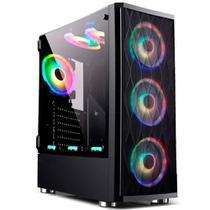 Gabinete Gamer Bluecase BG-025 - Lateral em Vidro Temperado - USB 3.0 - Mid Tower -