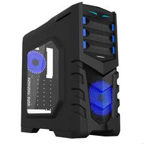 Gabinete Gamer Gamemax G530B Full Window 2XUSB3.0 3 Fans 32Leds Azul