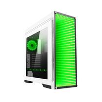 Gabinete Gamer Gamemax Infinity Branco Full Window Fundo infinito Multi Colors Usb 3.0 3 Fans 21 led