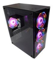 Gabinete Gamer Hayom Vidro Temperado com 4 Fans Cooler RGB - GB1701 -