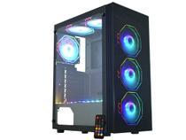 Gabinete Gamer K-Mex Asgard Polygon CG-02Z5 - RGB ATX 8 FANs Preto