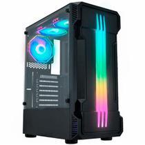 Gabinete Gamer K-Mex Bifrost 2 - Lateral em Vidro Temperado - LED RGB - CG-01KB -