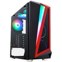 Gabinete Gamer K-Mex Hawk 3 - LED RGB - Painel Lateral de Vidro Temperado - Mid Tower - CG03QI -