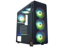 Gabinete Gamer K-Mex Infinity Polygon CG-08G8 - RGB ATX 6 FANs Preto
