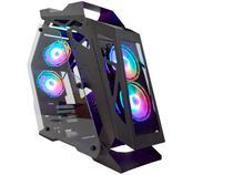 Gabinete Gamer K-Mex Micro Ranger Open CG-01PQ - RGB ATX 6 FANs Preto