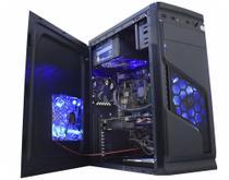 Gabinete Gamer Mid Tower Fans Led Frontal Azul Solid Snake CG-02R6 K-MEX Sem Fonte -