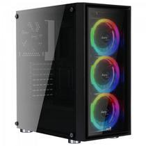 Gabinete Gamer Mid Tower Quartz Revo RGB Preto AEROCOOL -