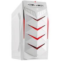 Gabinete Gamer Mid Tower Sem Fonte Branco/Vermelho MT-G70WH C3TECH -
