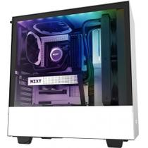 Gabinete Gamer Nzxt H510i-W1 White/Black Tempered Glass Mid Tower C/Janela - CA-H510I-W1
