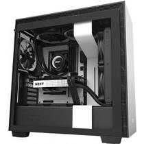 Gabinete Gamer Nzxt H710b-W1 White/Black Tempered Glass Mid Tower C/Janela - CA-H710B-W1